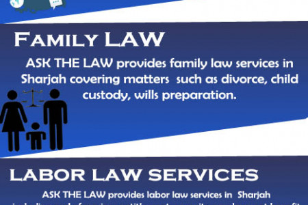 LEGAL SERVICES IN SHARJAH Infographic