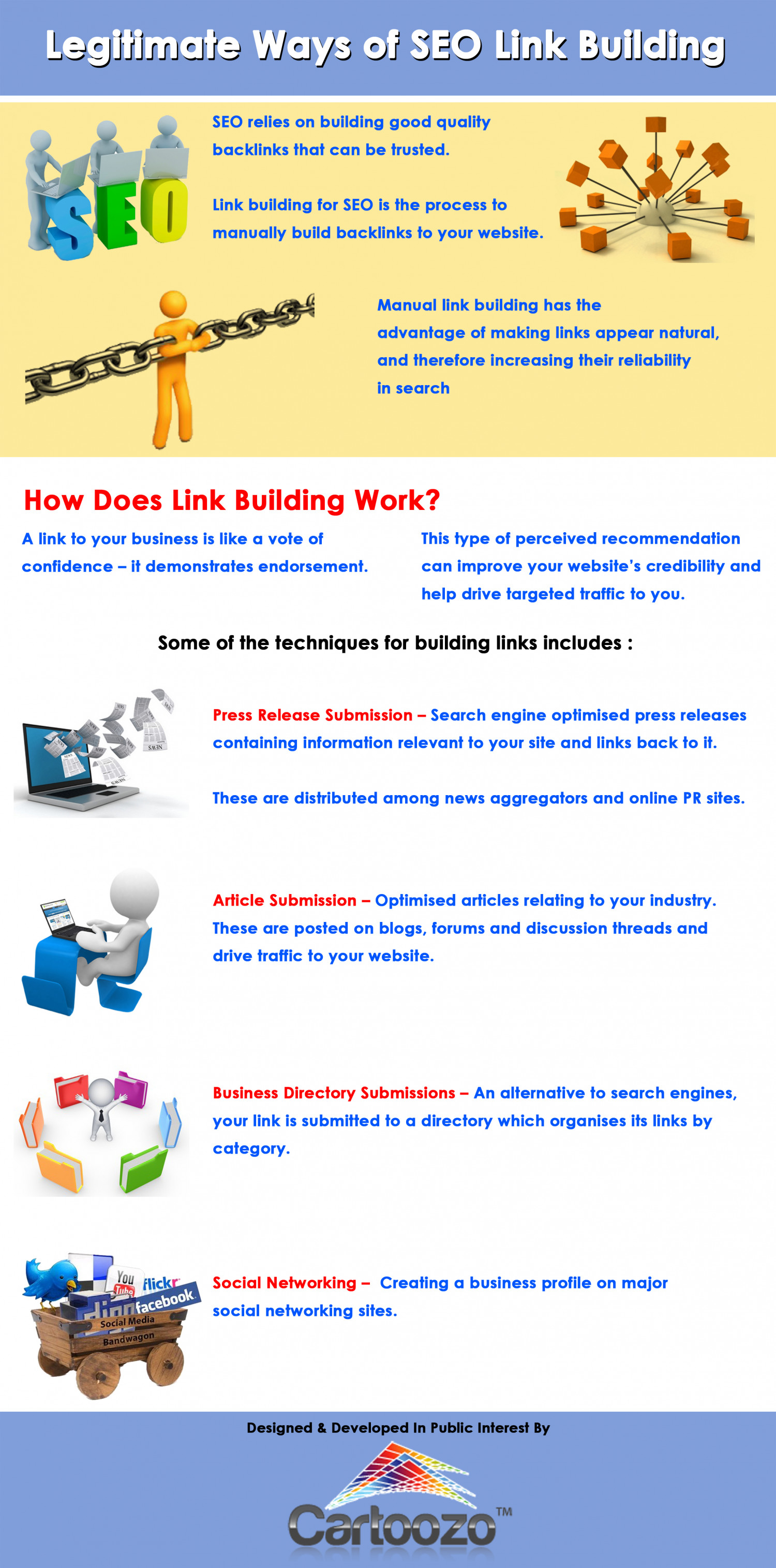 Legitimate Ways of SEO Link Building Infographic