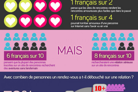 Les sites de rencontres en France en 2013 Infographic