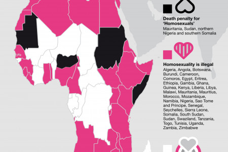 LGBTI Rights in Africa: making love a crime Infographic