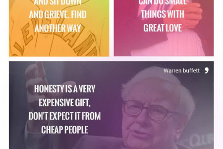 Life changing Inspirational Quotes Infographic