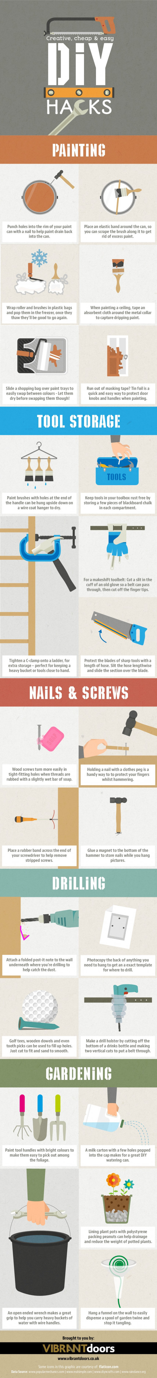 Creative, Cheap & Easy DIY Hacks