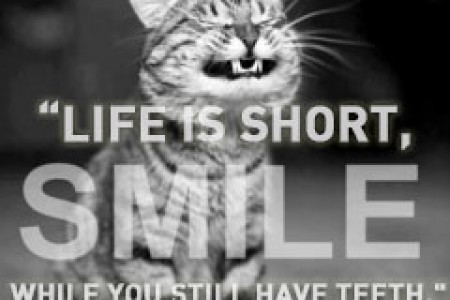 life is too short to not smile! Infographic