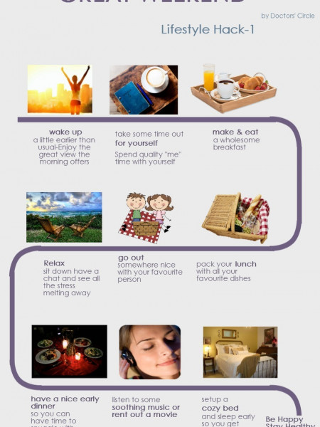 How to Have a Great Weekend LifeStyleHack #1 Infographic