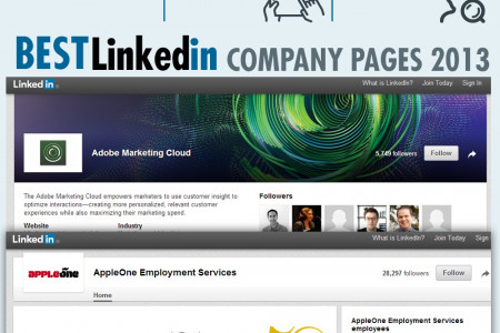 LinkedIn Facts and Stats Infographic Infographic