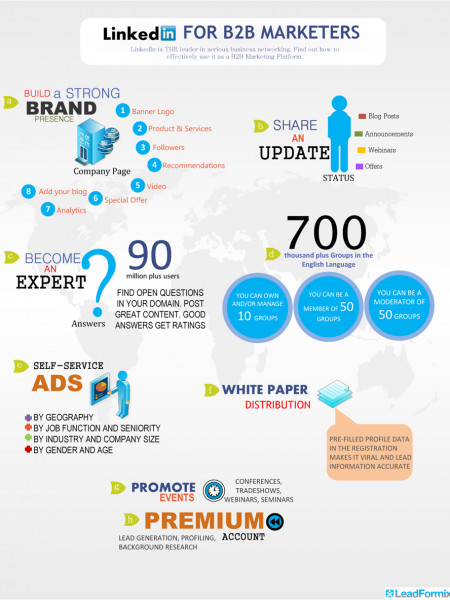 LinkedIn for B2B Marketers Infographic