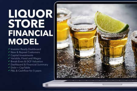 LIQUOR STORE BUSINESS PLAN FINANCIAL MODEL EXCEL TEMPLATE Infographic