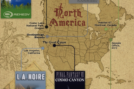 Live the Fantasy: Video game locales you can visit Infographic