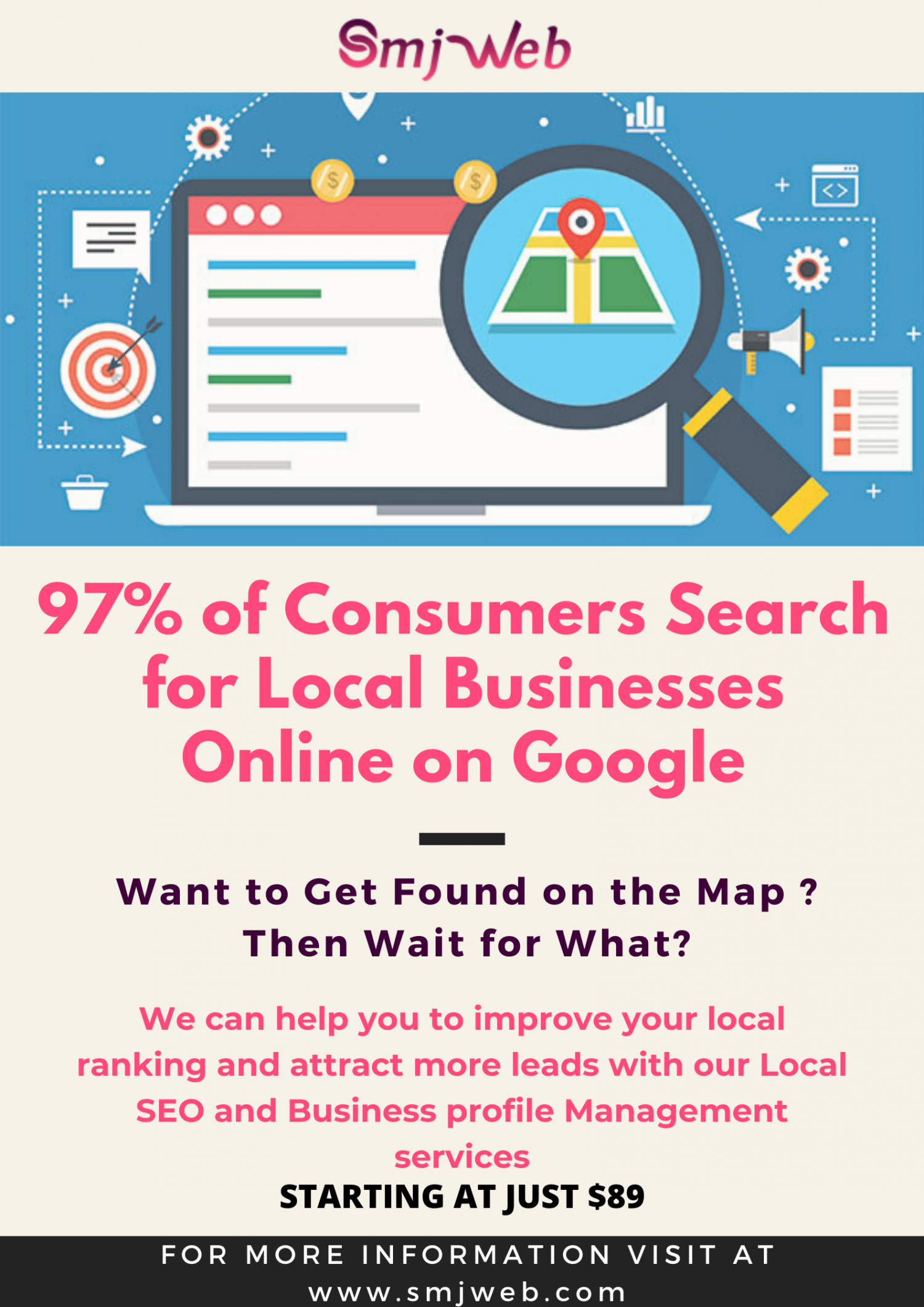 Local SEO Services in Ottawa, Optimize your Google My Business Listing Infographic