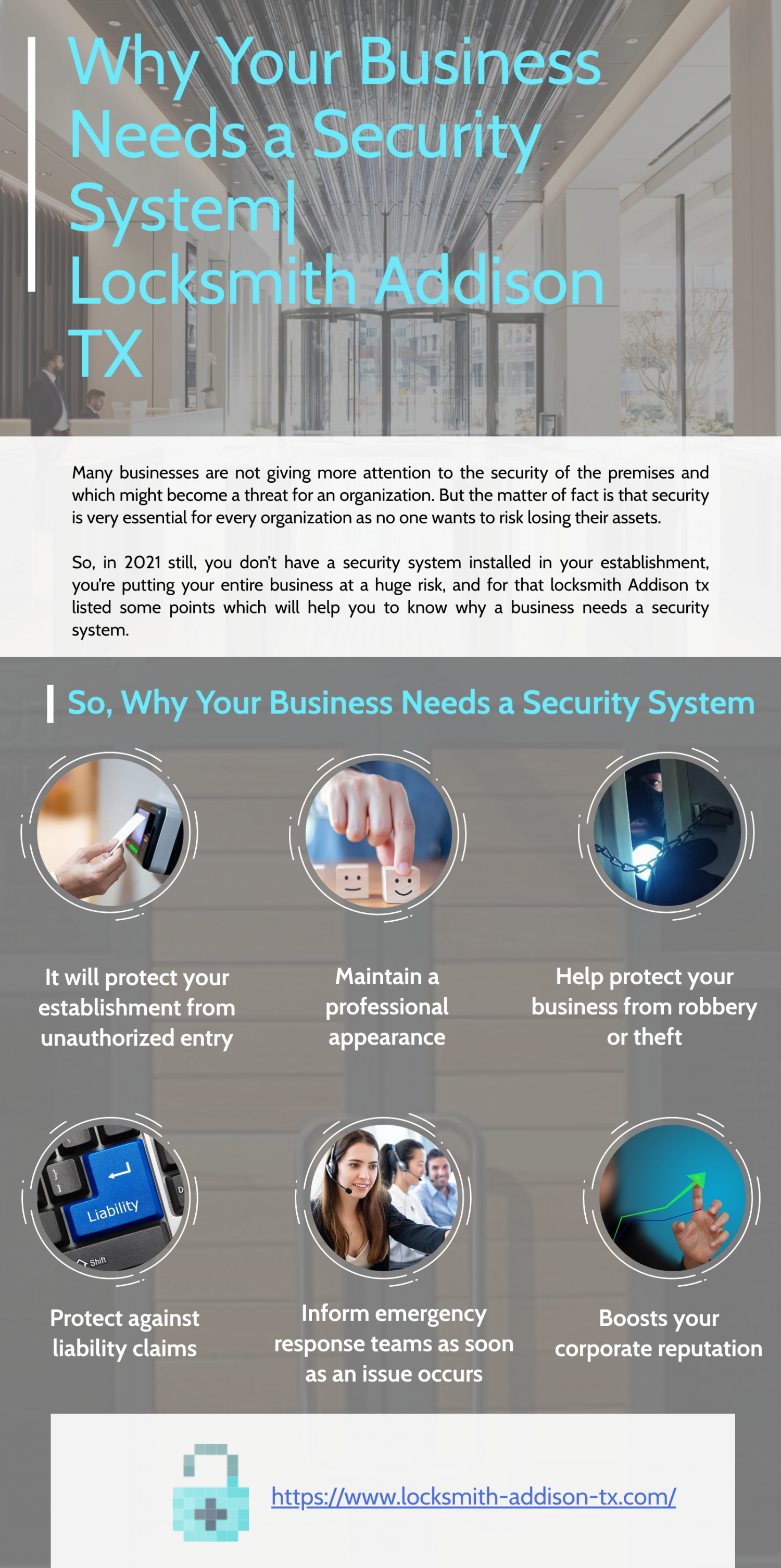Locksmith Addison TX_Why Your Business Needs a Security System Infographic