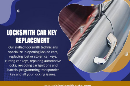 Locksmith Car Key Replacement Infographic