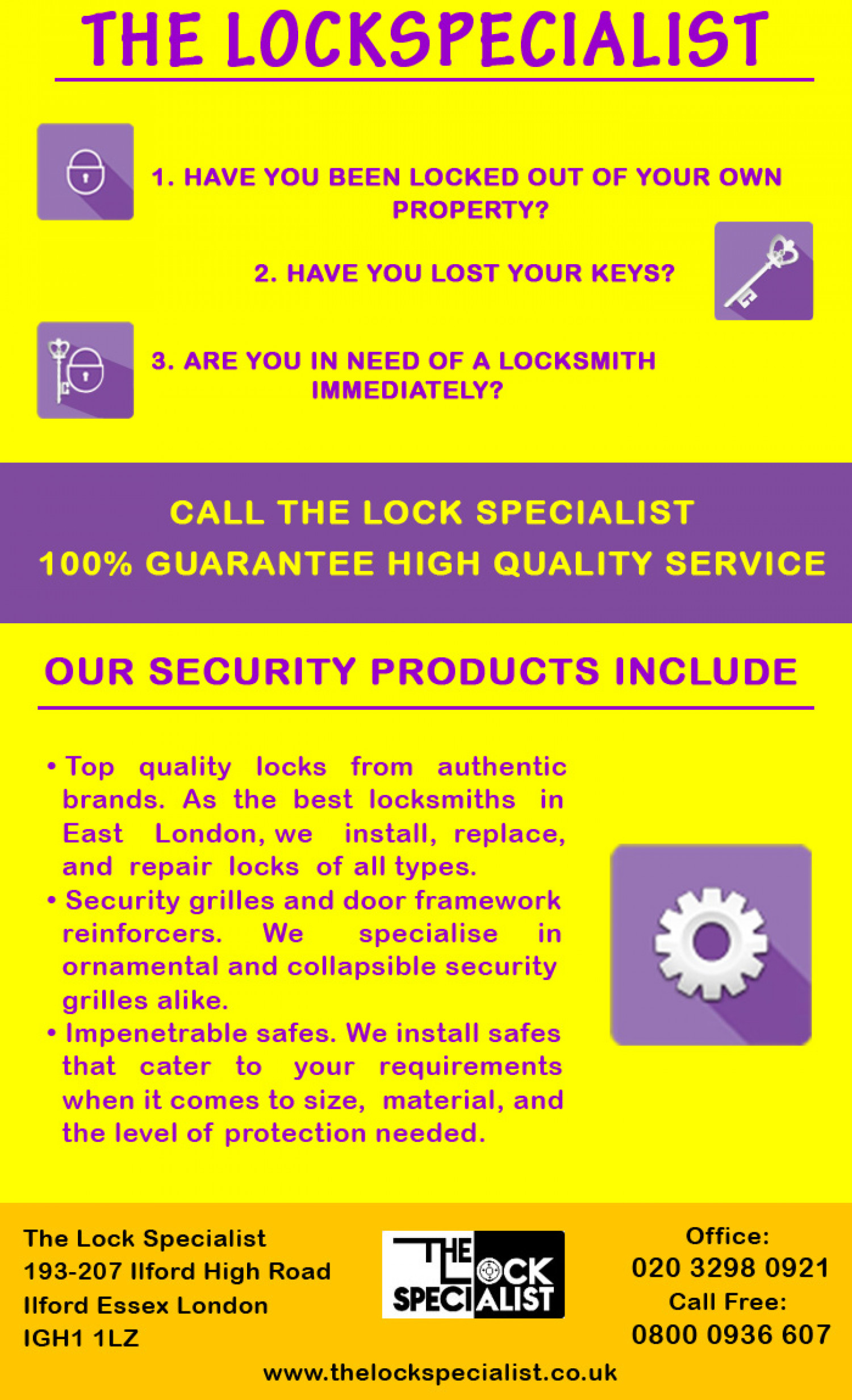 The Lockspecialist Infographic