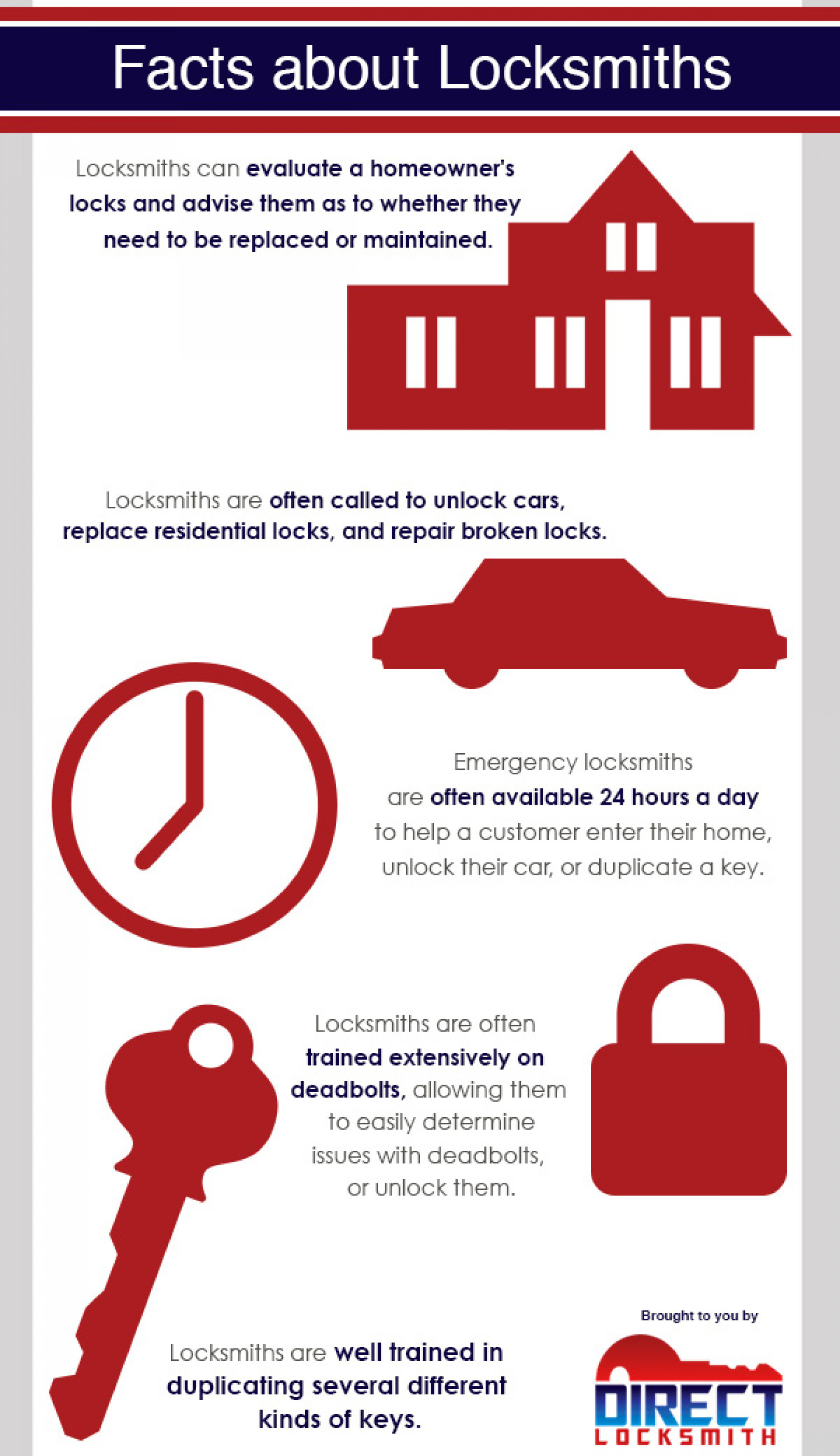 Facts About Locksmiths Infographic