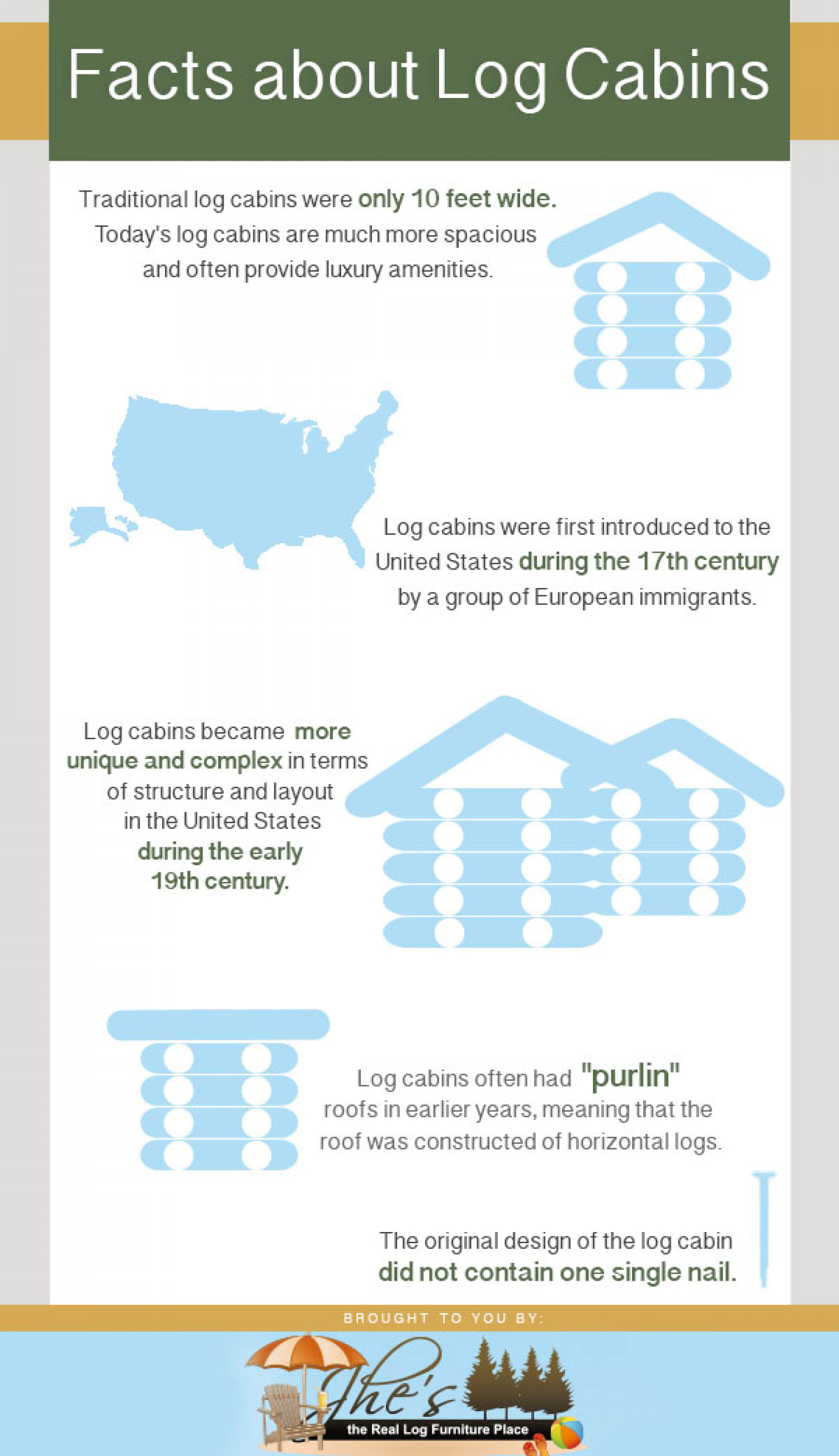 Facts About Log Cabins Infographic
