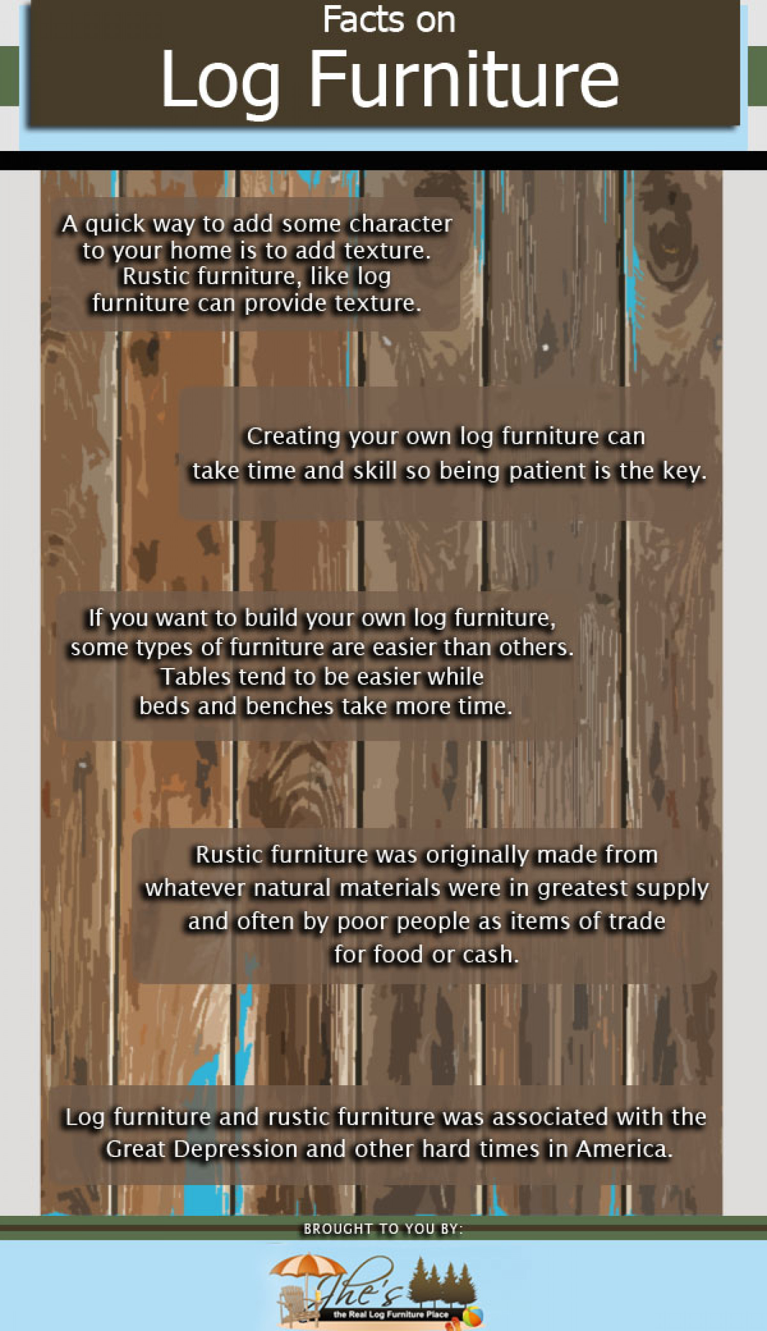 Facts on Log Furniture Infographic