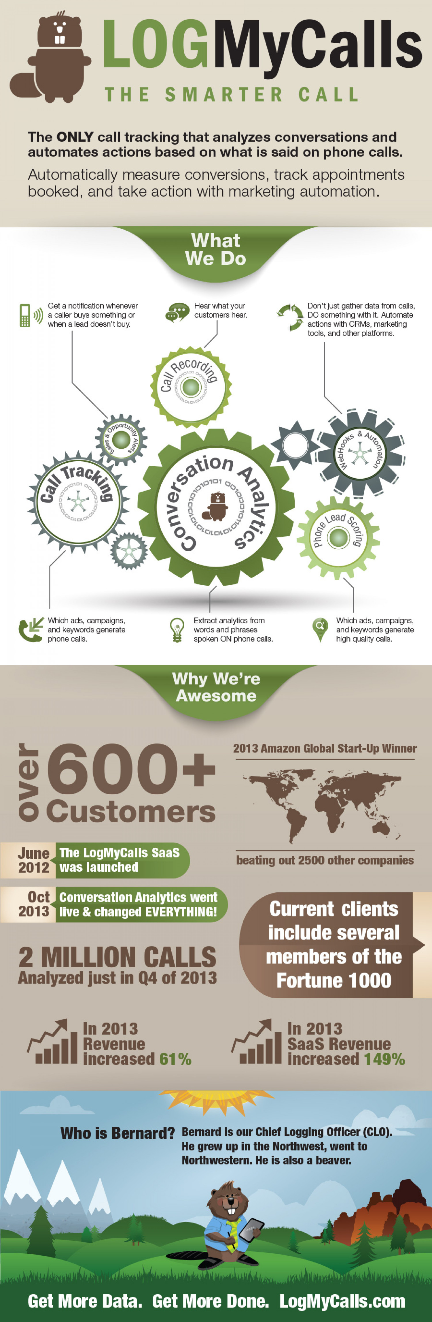 LogMyCalls: 2013 Year in Review Infographic