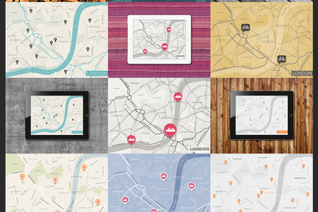 London Maps |  Maps Style Design Infographic