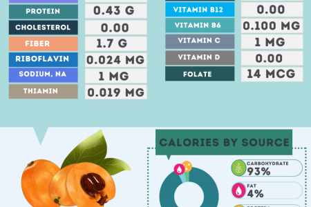 Loquat nutrition facts Infographic