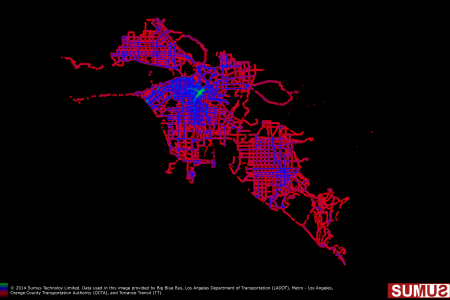 Los Angeles Transit Coverage Map: April 30th, 2014 Infographic
