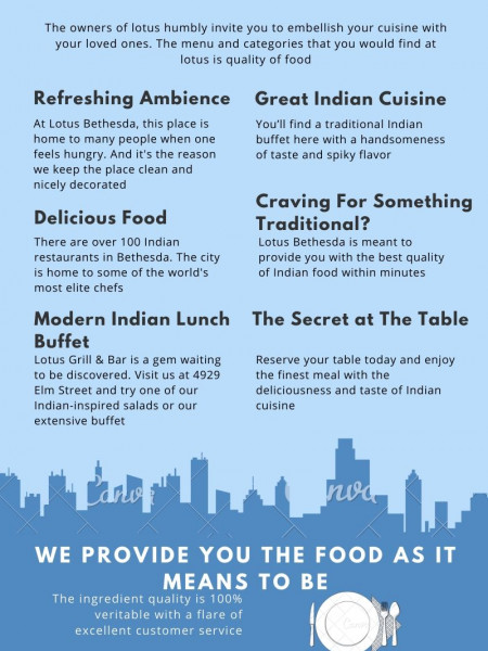 Lotus Bethesda The Indian Cuisine Infographic