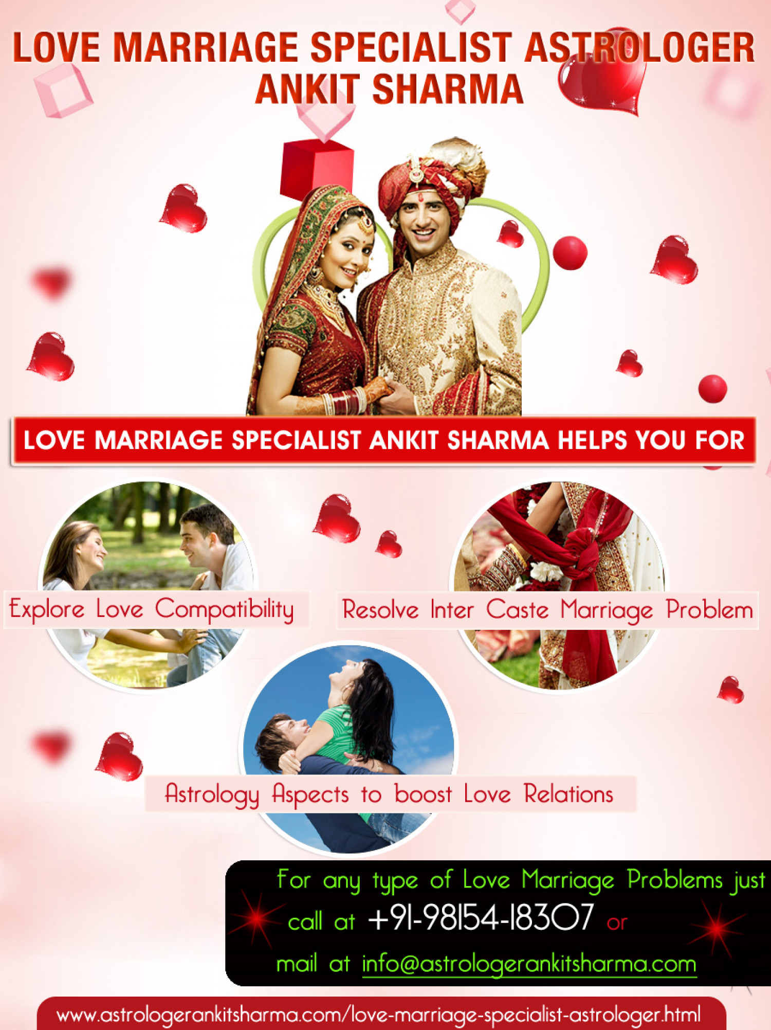 love ~marriage~probl Love marriage problem the sphere of love, romance, and love marriage, has been most served by the services and solutions of our world-acclaimed astrologer and vashikaran specialist of india, to make lives of people of the world over succulent, happier, peaceful, and most satisfying.