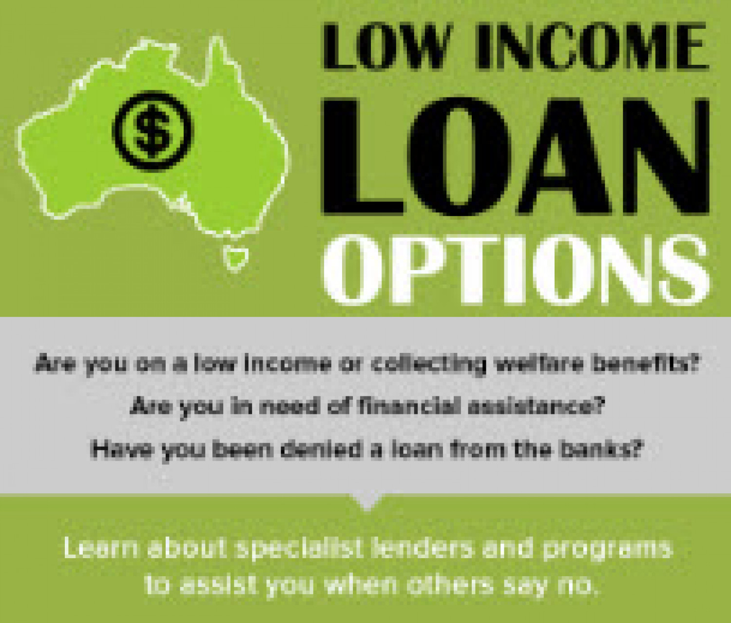 Low Income Loan Options Infographic