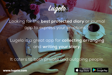 Lugelo: Free Online Journal App Infographic