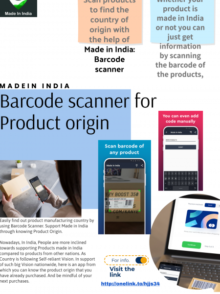 Made in India: Barcode scanner for Product origin Infographic