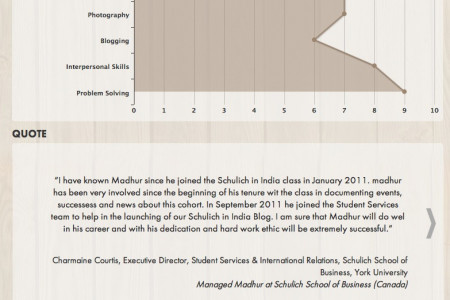 Madhur - Infographic Resume Infographic