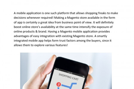 MageMob Cart: Is Your Magento Shopping Cart Ready For Smart Phone? Infographic
