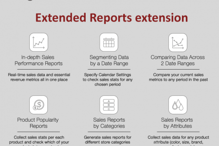 Magento Extended Report extension Infographic