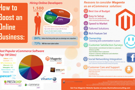 Magento Website Design Benefits Infographic By Illumination Consulting Infographic