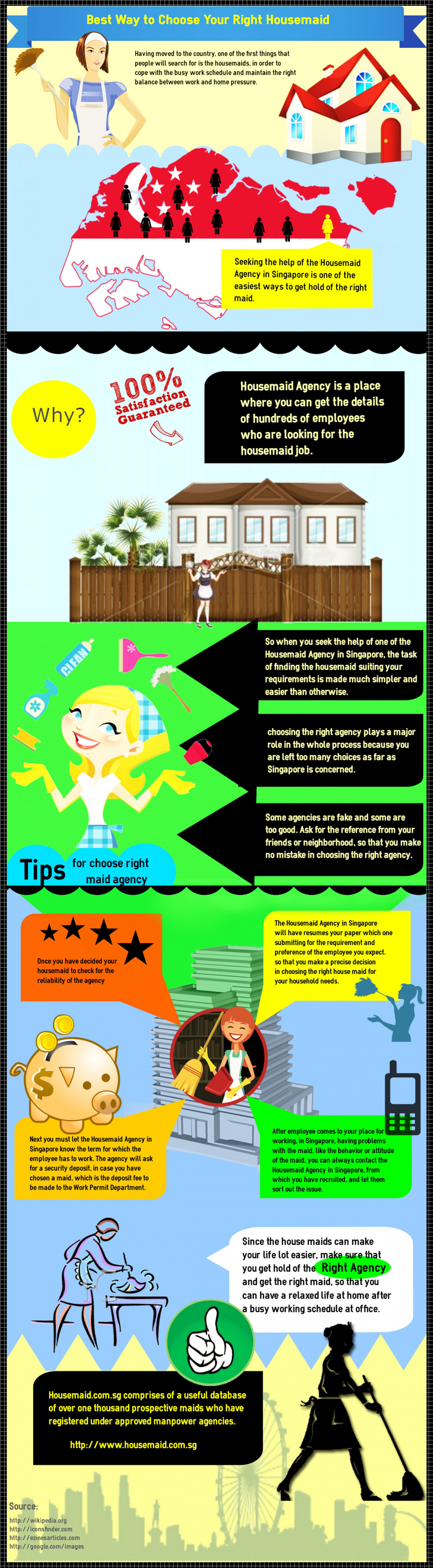 Best Way to Choose Your Right Housemaid Infographic