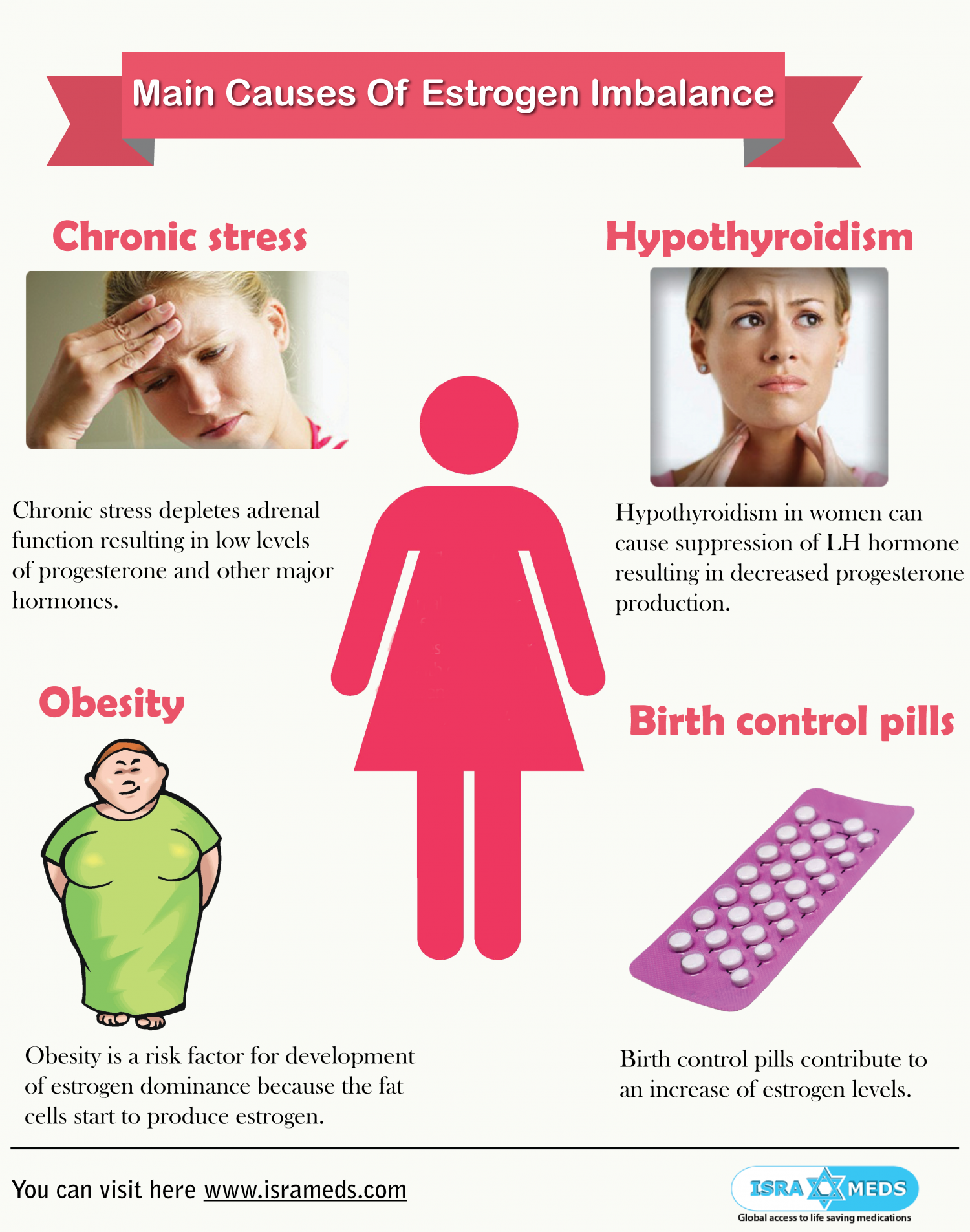 Main Causes Of Estrogen Imbalance Infographic