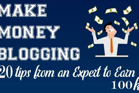 Make Money Blogging: 20 Tips from an Expert to Earn 100K – INFOGRAPHIC Infographic