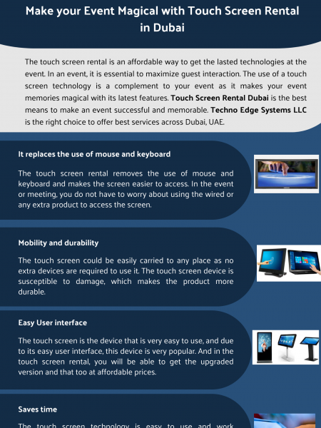 Make Your Event Magical with Touch Screen Rental in Dubai Infographic