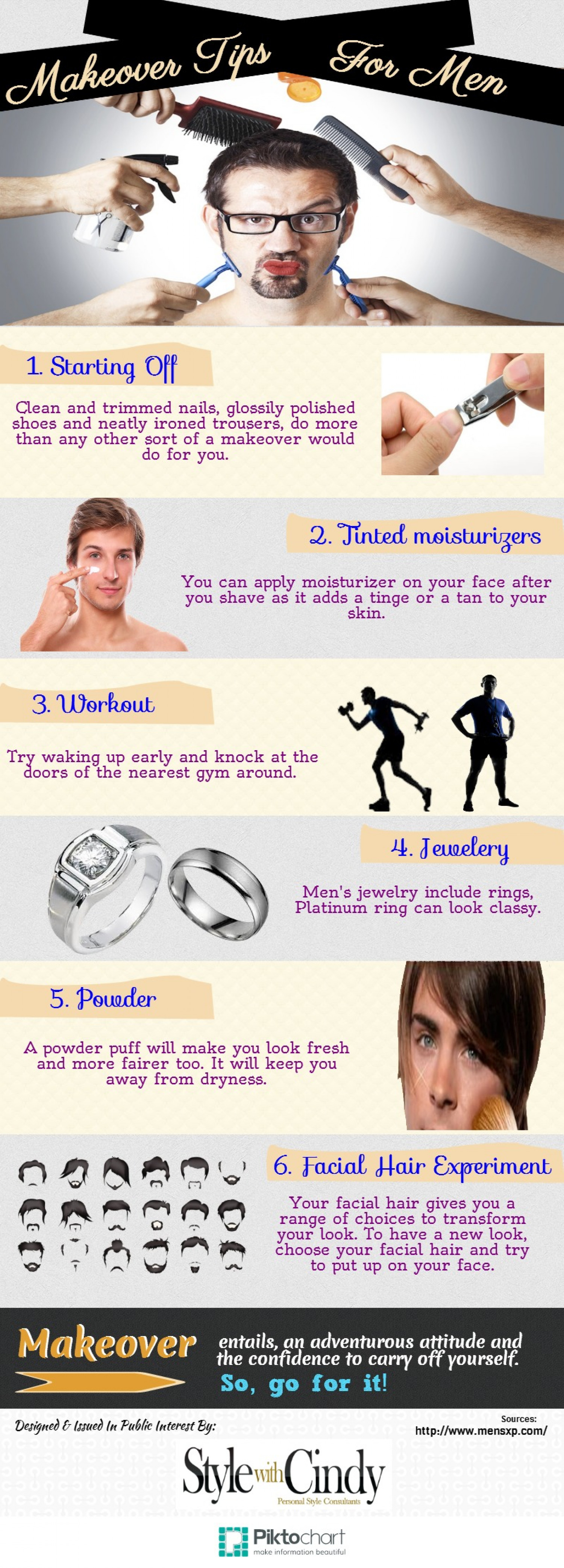 Makeover Tips For Men Infographic