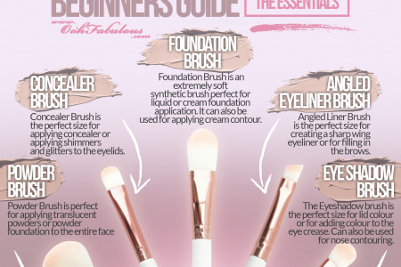 Makeup Brushes - Beginners Guide by Ooh Fabulous! Infographic
