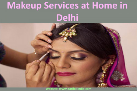 Makeup Services at Home in Delhi Infographic