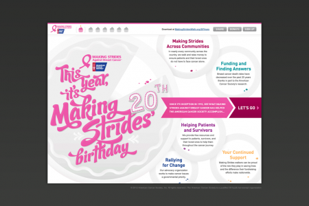 Making Strides: 20 Years of Saving Lives Infographic