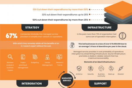 Managed IT Services & Cloud Solutions Infographic