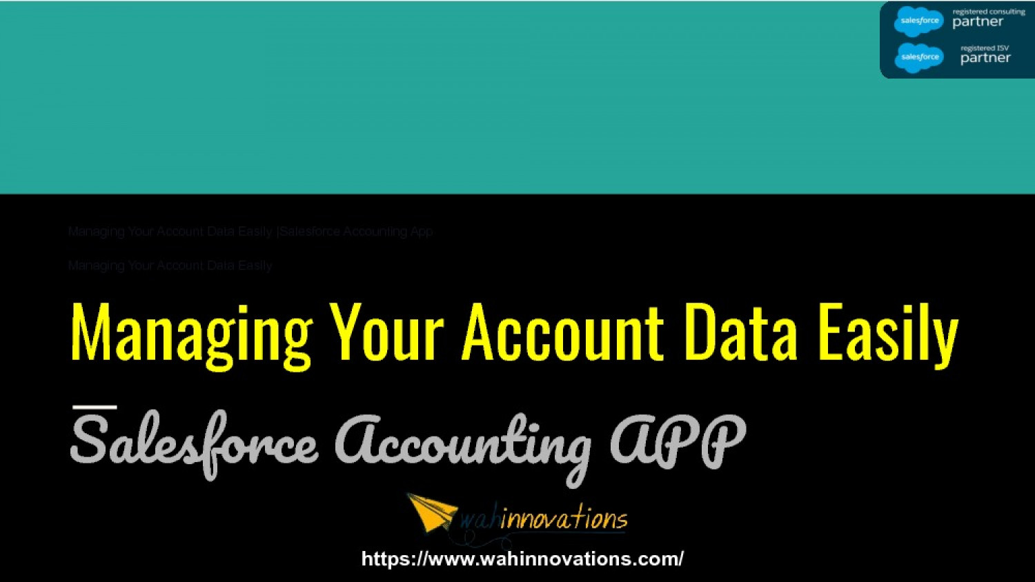 Managing Your Account Data Easily  Salesforce Accounting App  Accounting App for Salesforce Infographic