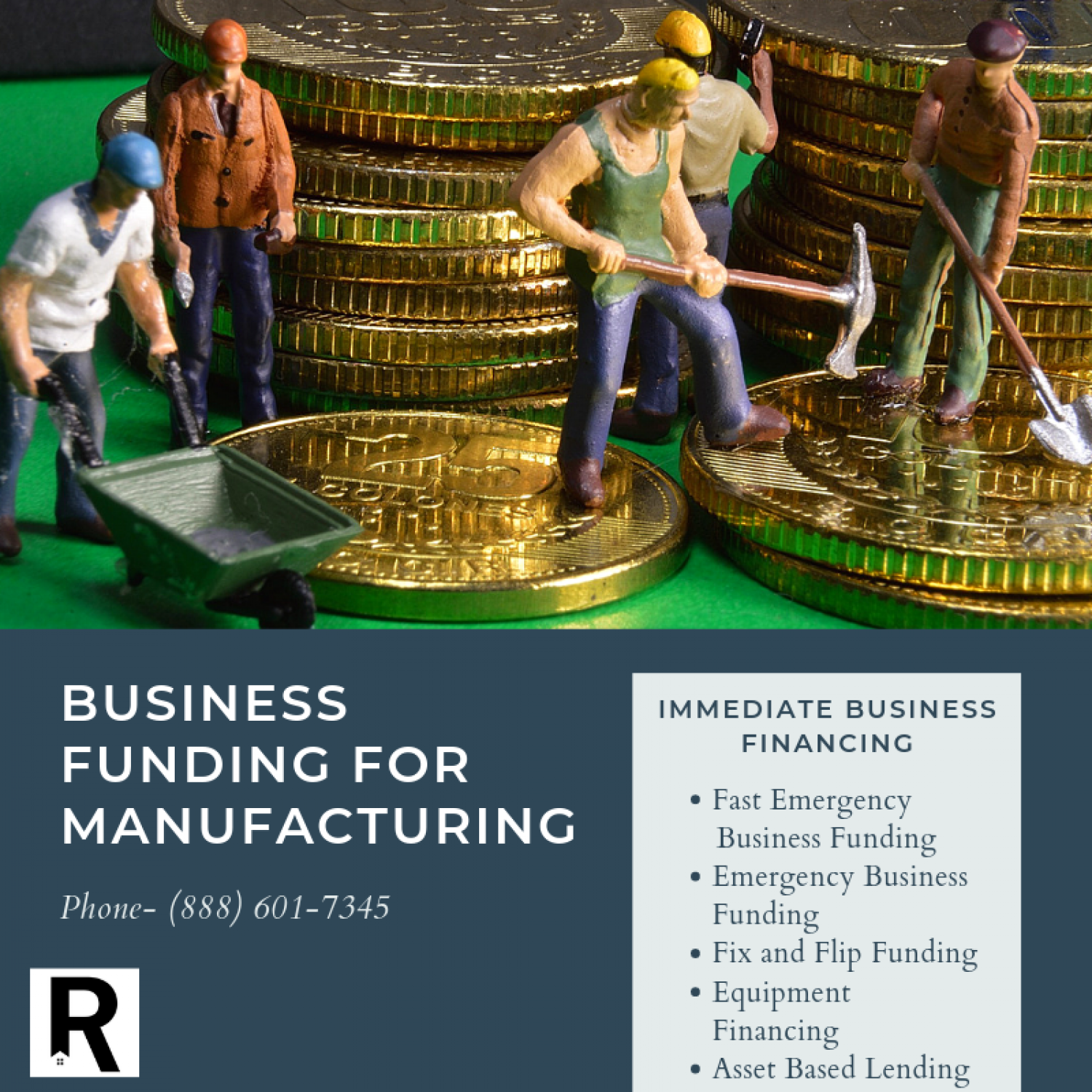 Manufacturing Business Loans Infographic