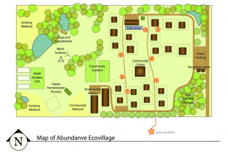 Map of Abundance Ecovillage Infographic