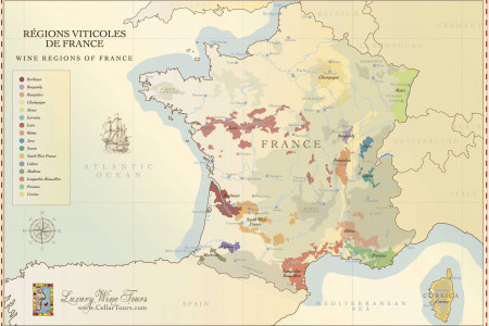 Map of French Wine Regions Infographic