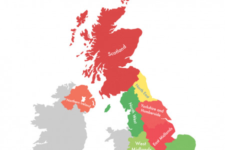 Map of Women on UK Start-up Boards Infographic
