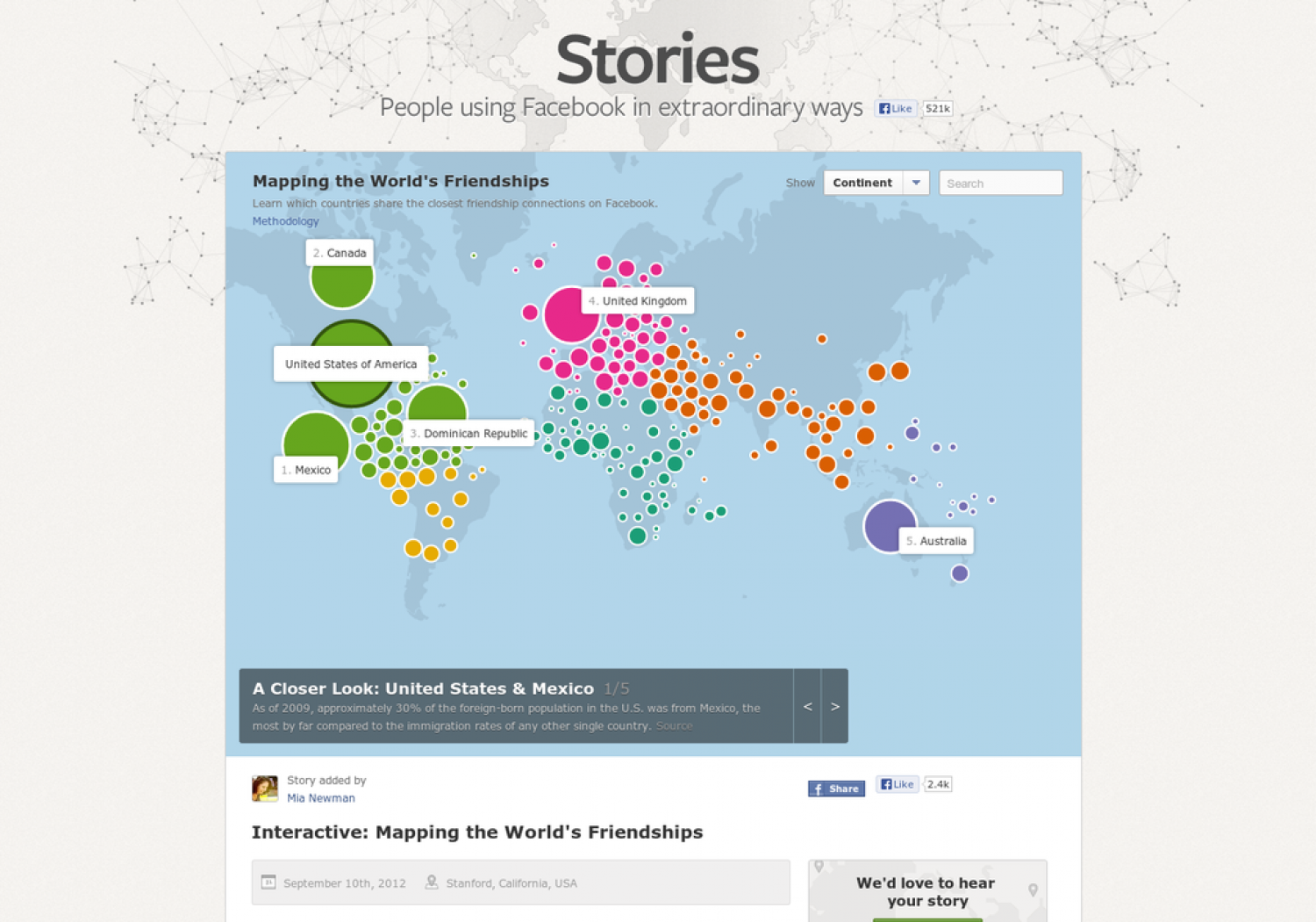 Mapping the World's Friendships Infographic