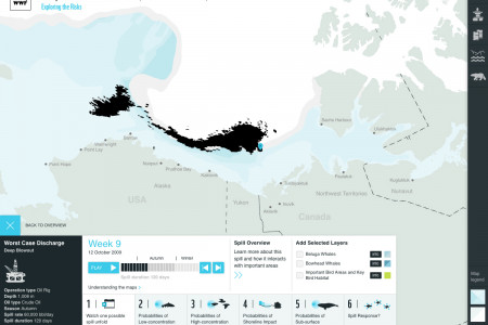 Mapping the Consequences of an Oil Spill in the Arctic Infographic