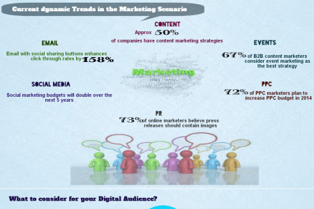 Marketing Statistics Influencing Online Marketing  Infographic