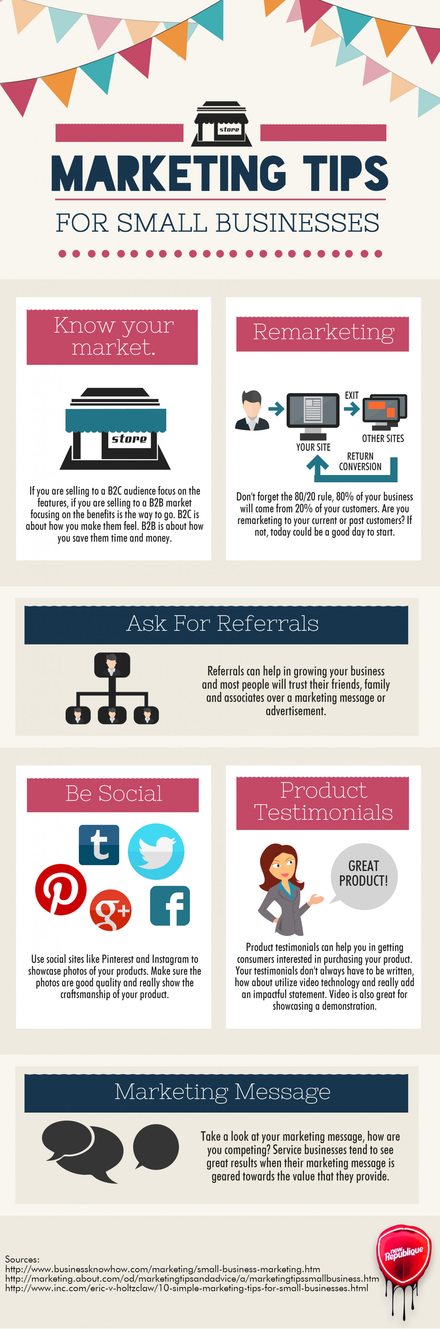 Marketing Tips for Small Business Infographic
